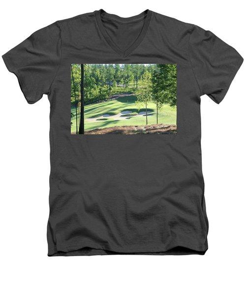 North Carolina Golf Course 12th Hole Men's V-Neck T-Shirt