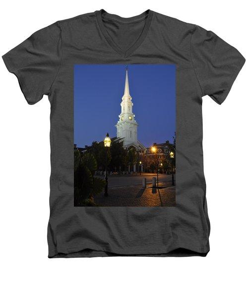 North Church Ncp Men's V-Neck T-Shirt by Jim Brage