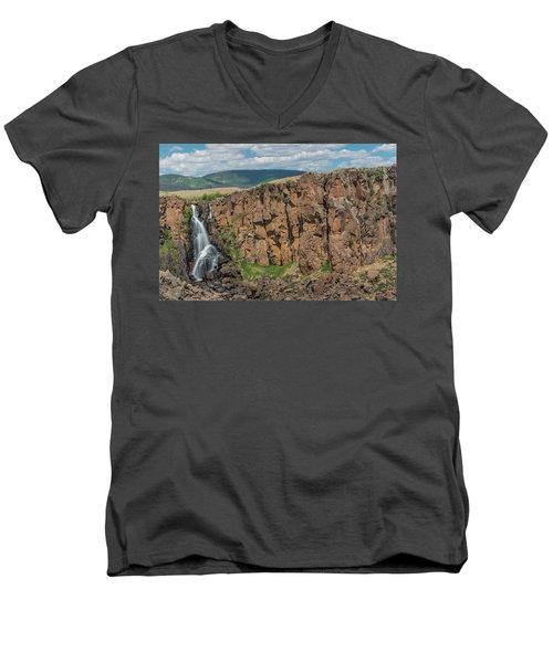 North Clear Creek Falls, Creede, Colorado 2 Men's V-Neck T-Shirt