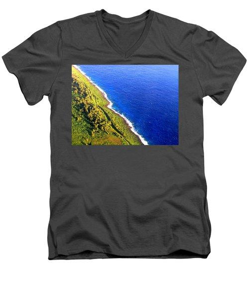 North Coast Of Tinian At Sunrise Men's V-Neck T-Shirt