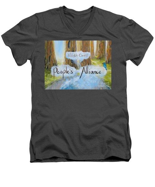 North Coast People's Alliance Men's V-Neck T-Shirt