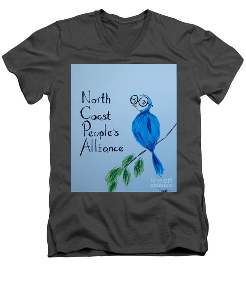 North Coast People's Alliance With Bernie Men's V-Neck T-Shirt