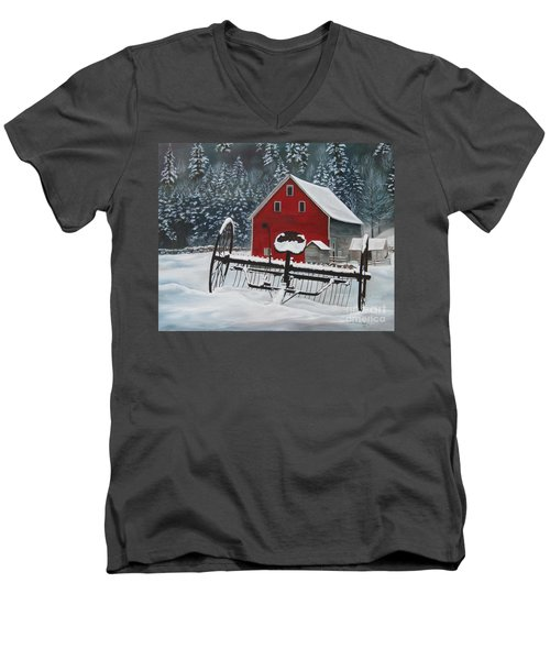 North Country Winter Men's V-Neck T-Shirt