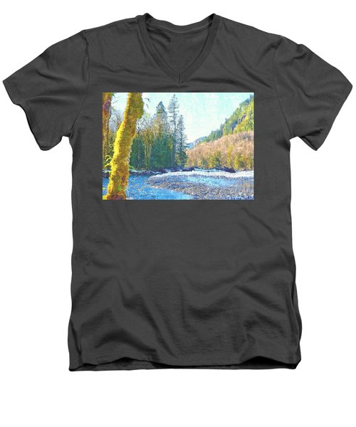North Fork Of The Skykomish River Men's V-Neck T-Shirt