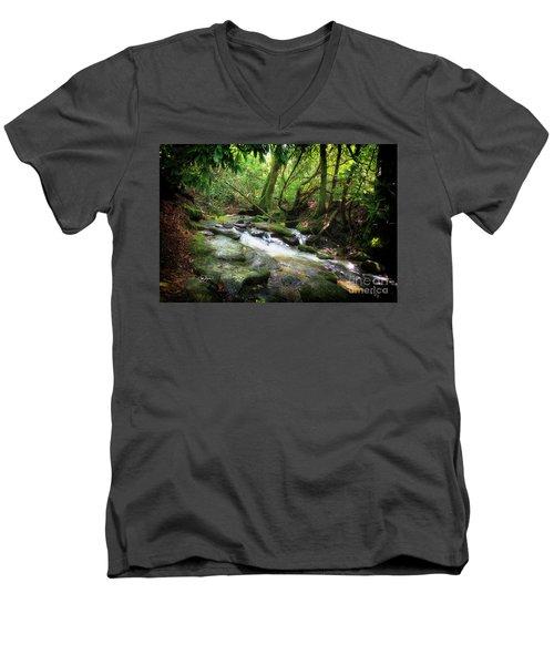 North Georgia Mountains  Men's V-Neck T-Shirt