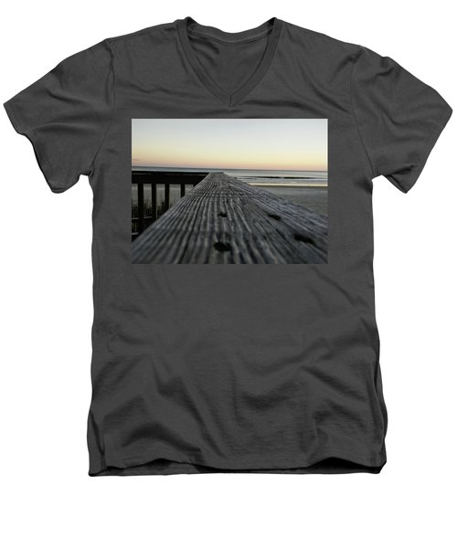 Men's V-Neck T-Shirt featuring the photograph North Myrtle Beach Evening by Robert Knight