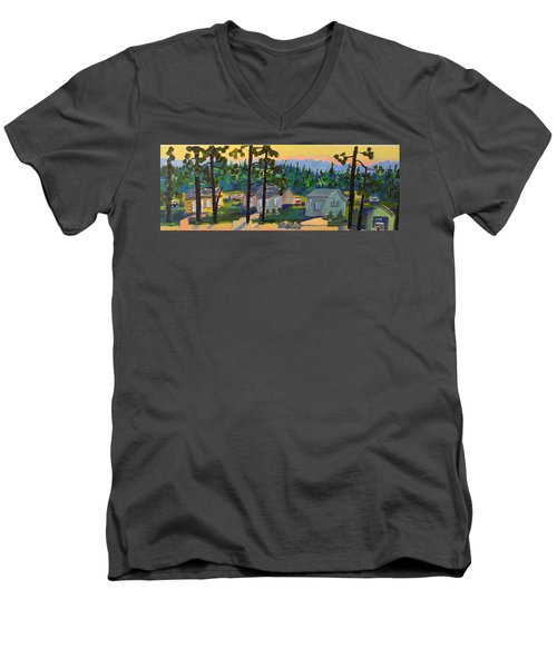 North Shore Men's V-Neck T-Shirt by Rodger Ellingson