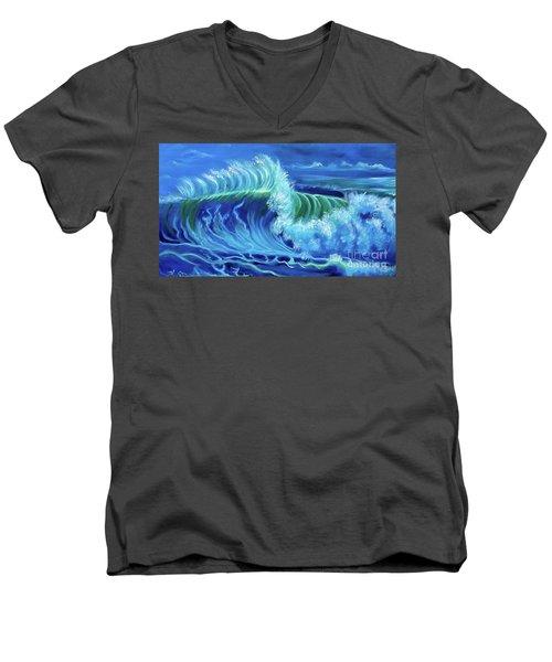 North Shore Wave Hawaii Jenny Lee Discount Men's V-Neck T-Shirt