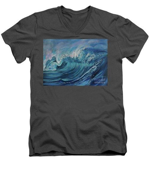 North Shore Wave Oahu Men's V-Neck T-Shirt