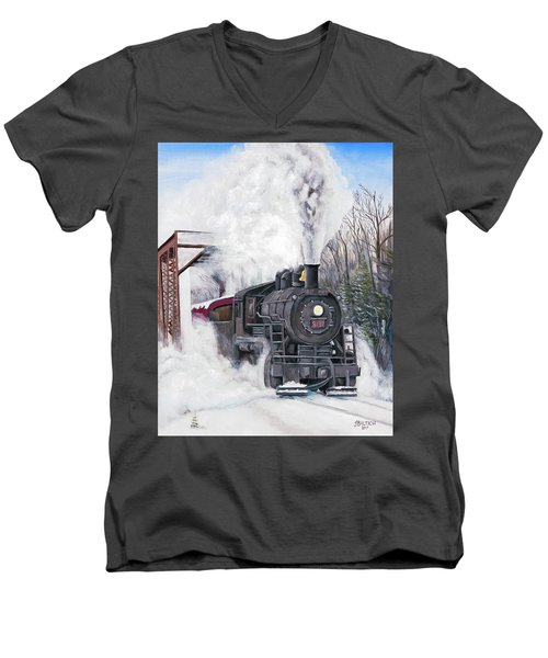 Northbound At 35 Below Men's V-Neck T-Shirt