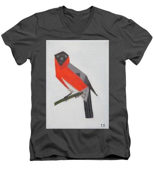 Northern Bullfinch Men's V-Neck T-Shirt