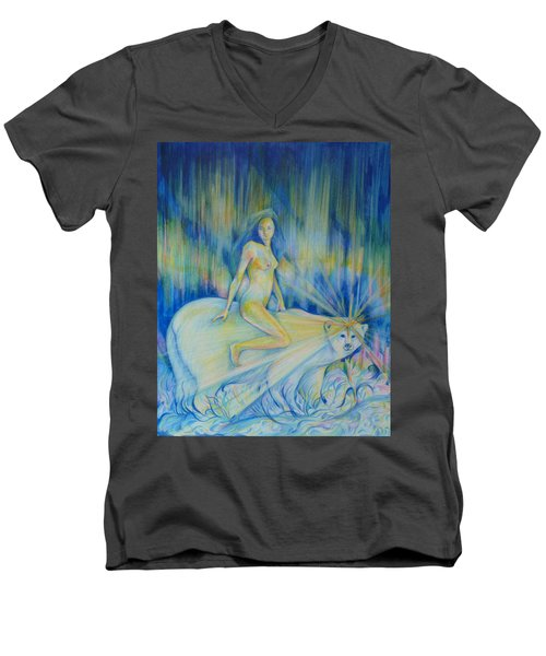 Northern Dream Men's V-Neck T-Shirt by Anna  Duyunova