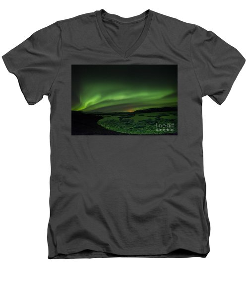 Northern Lights 3 Men's V-Neck T-Shirt by Mariusz Czajkowski