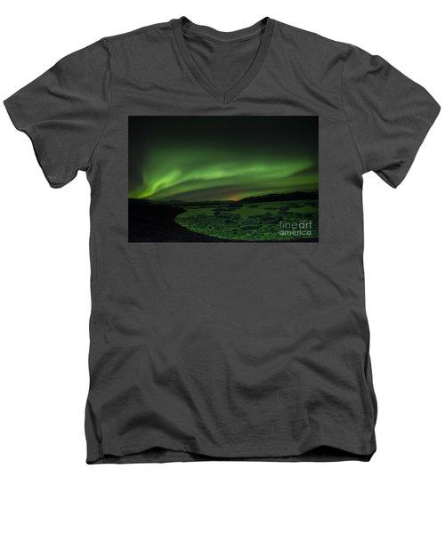 Northern Lights 3 Men's V-Neck T-Shirt