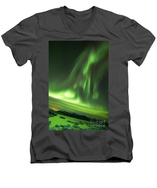 Northern Lights 5 Men's V-Neck T-Shirt by Mariusz Czajkowski