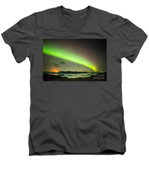 Northern Lights 6 Men's V-Neck T-Shirt by Mariusz Czajkowski