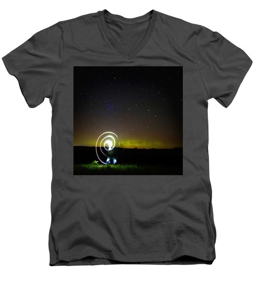 023 - Night Writing Men's V-Neck T-Shirt