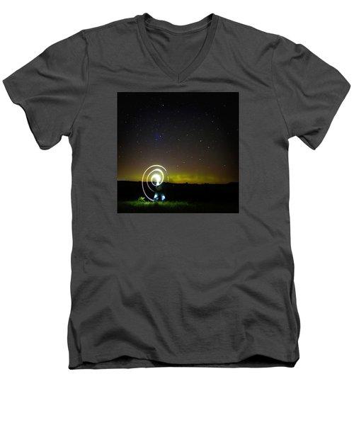 023 - Night Writing Men's V-Neck T-Shirt