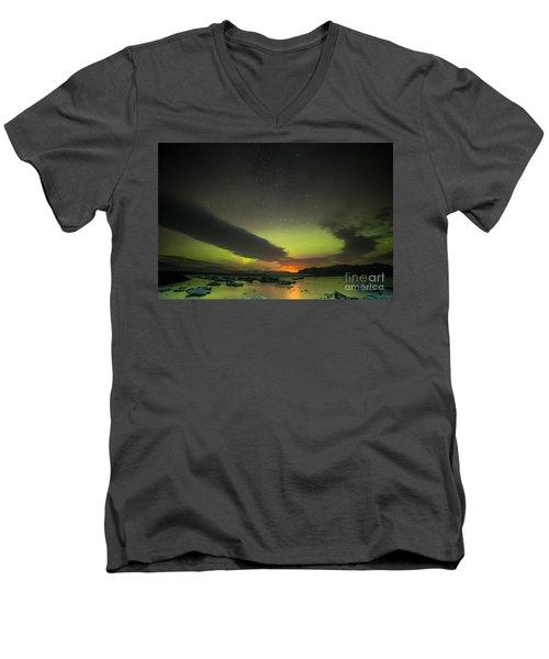 Northern Lights  Men's V-Neck T-Shirt