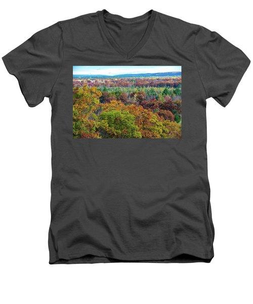 Northern Michigan Fall Men's V-Neck T-Shirt