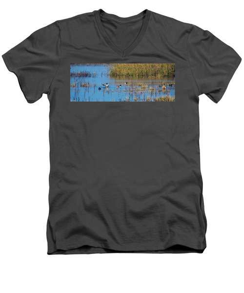 Northern Shovelers Men's V-Neck T-Shirt
