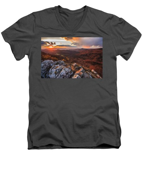 Men's V-Neck T-Shirt featuring the photograph Northern Territory by Davorin Mance