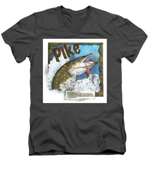 Northerrn Pike Men's V-Neck T-Shirt