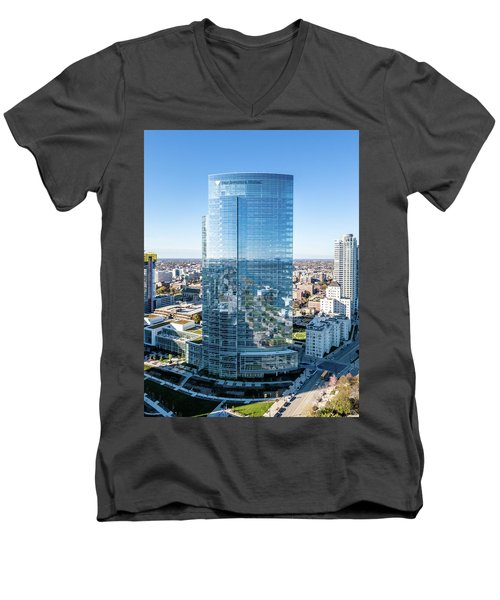 Northwestern Mutual Tower Men's V-Neck T-Shirt