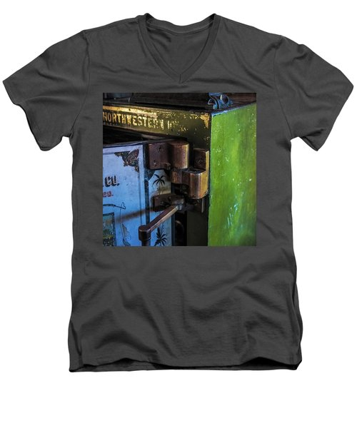 Men's V-Neck T-Shirt featuring the photograph Northwestern Safe by Paul Freidlund