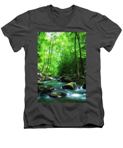 Northwood Brook Men's V-Neck T-Shirt