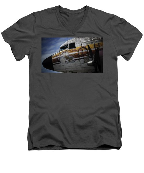 Men's V-Neck T-Shirt featuring the photograph Nose Art by Michael Nowotny