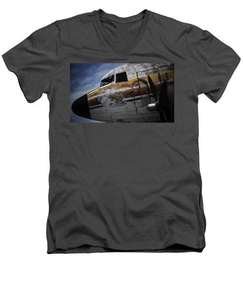 Nose Art Men's V-Neck T-Shirt by Michael Nowotny