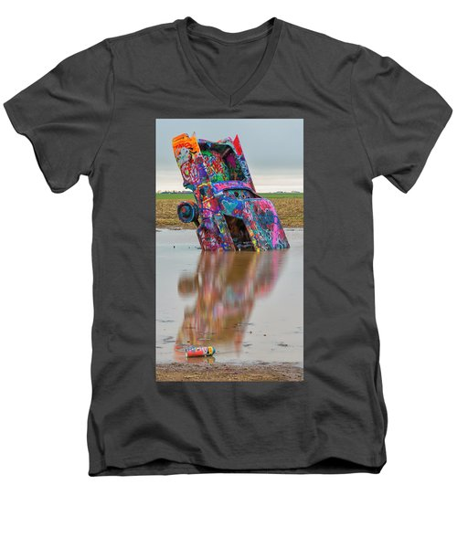 Men's V-Neck T-Shirt featuring the photograph Nose Dive by Stephen Stookey