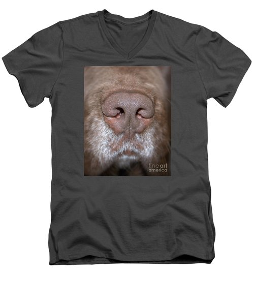 Men's V-Neck T-Shirt featuring the photograph Nosey by Debbie Stahre