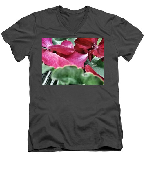 Men's V-Neck T-Shirt featuring the photograph Not A 4 Leaf Clover by Robert Knight