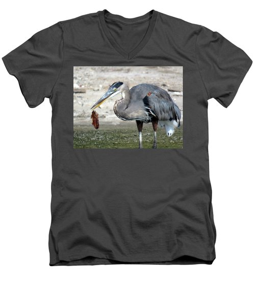Men's V-Neck T-Shirt featuring the photograph Not A Fish by Phyllis Beiser