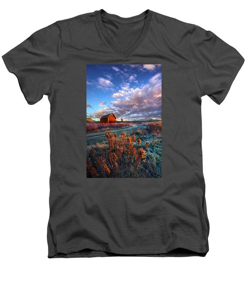 Men's V-Neck T-Shirt featuring the photograph Not All Roads Are Paved by Phil Koch