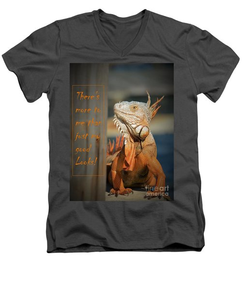 Not Just About The Looks Men's V-Neck T-Shirt by Pamela Blizzard