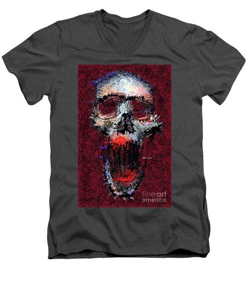 Men's V-Neck T-Shirt featuring the digital art Not Me by Rafael Salazar