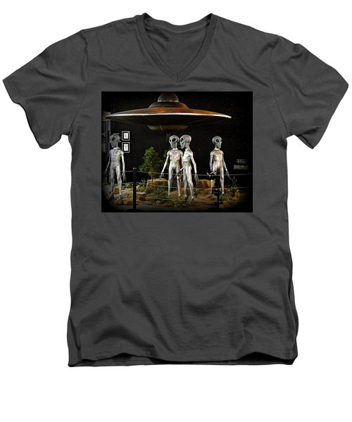 Men's V-Neck T-Shirt featuring the photograph Not Of This Earth by AJ Schibig