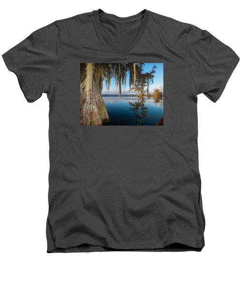 Looking For Lafayette Men's V-Neck T-Shirt by Kimo Fernandez
