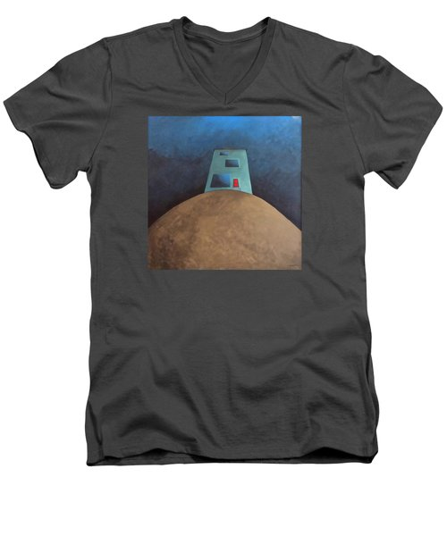 Not This House Men's V-Neck T-Shirt by Cynthia Decker