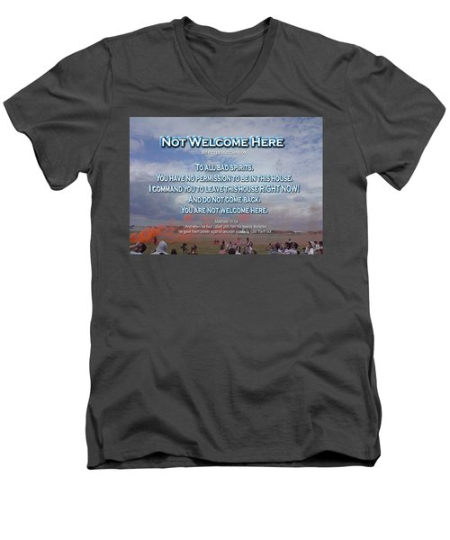 Not Welcome Here Men's V-Neck T-Shirt