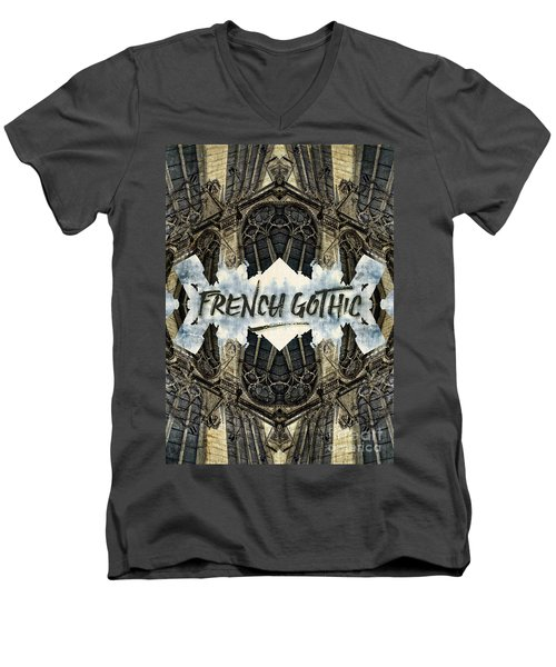 Notre-dame Cathedral French Gothic Architecture Paris France Men's V-Neck T-Shirt