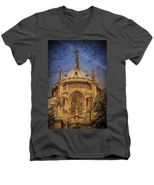 Paris, France - Notre-dame De Paris - Apse Men's V-Neck T-Shirt