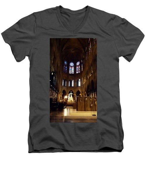 Notre Dame De Paris Men's V-Neck T-Shirt by Takaaki Yoshikawa