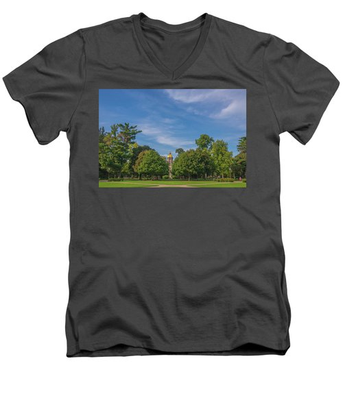 Men's V-Neck T-Shirt featuring the photograph Notre Dame University 6 by David Haskett