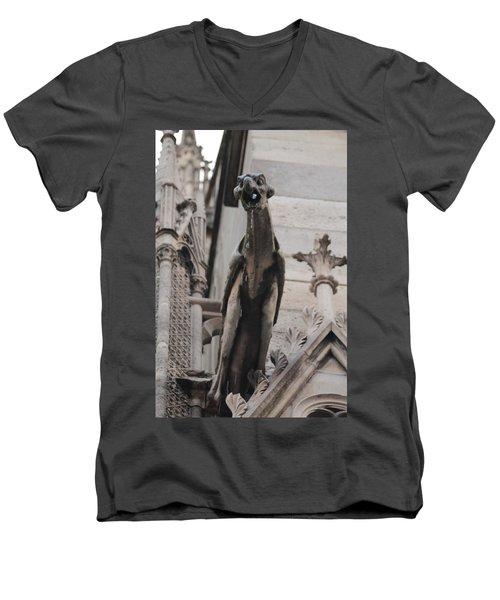 Rain Spouting Gargoyle. Men's V-Neck T-Shirt