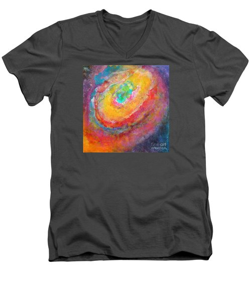 Fantasies In Space Series Painting. Aurora Concerto.  Men's V-Neck T-Shirt