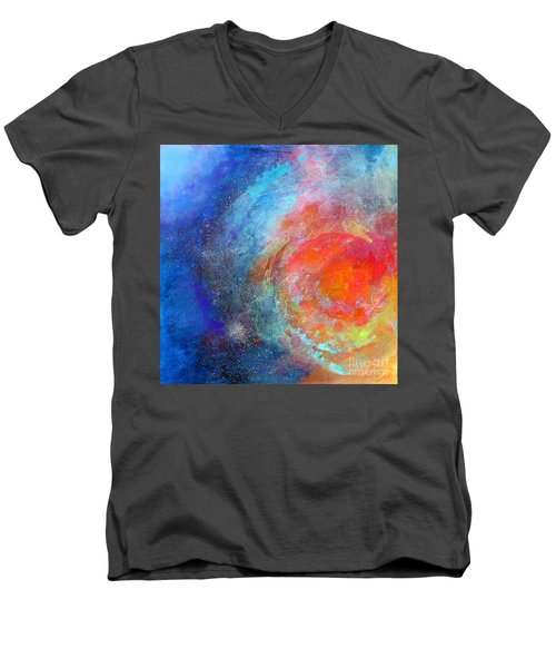 Fantasies In Space Series Painting. Nova Concerto. Acrylic Painting. Men's V-Neck T-Shirt